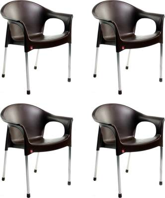 Cello Furniture Plastic Cafeteria Chair  (Finish Color - Ice Brown)