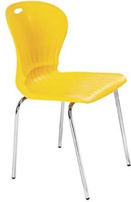 Mavi Metal Cafeteria Chair(Finish Color - Yellow)