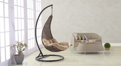 Urban Ladder Danum Swing Synthetic Fiber Outdoor Chair(Finish Color - Brown) at flipkart