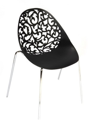 Ventura Plastic Cafeteria Chair(Finish Color - Black) at flipkart