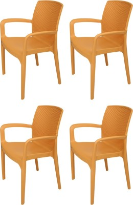 Supreme Texas Plastic Outdoor Chair(Finish Color - Amber Gold) at flipkart