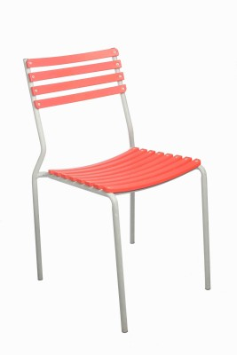 Ventura Plastic Cafeteria Chair(Finish Color - Red) at flipkart