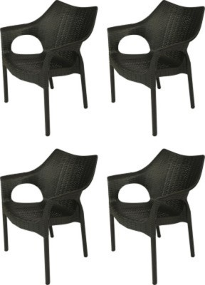 Mavi Plastic Outdoor Chair(Finish Color - Black)