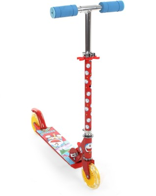 Doraemon Two wheel scooter with lights(Red)