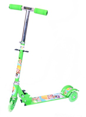 Happy Kidz Foldable And Height Adjustable Scooter For Kids (Sleek)(Green)