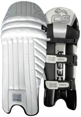 Ceela Sports Spark Men's (39 - 43 cm) Men Batting Pad(White, Black, Ambidextrous)
