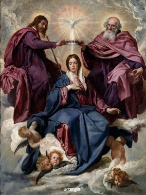 Artangle Velazquez, Diego Rodriguez de Silva y - The Coronation of the Virgin, Ca. 1635 Art Print Digital Reprint Painting(16 inch x 12 inch)  available at flipkart for Rs.299