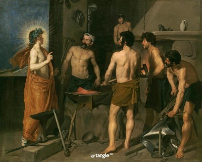 Artangle Velazquez, Diego Rodriguez de Silva y - Vulcan's Forge, Ca. 1630 Art Print Digital Reprint Painting(15 inch x 12 inch)  available at flipkart for Rs.299