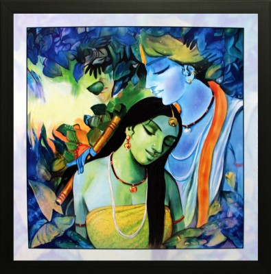 SAF Radha Krishna Canvas Painting(12 inch x 12 inch) at flipkart