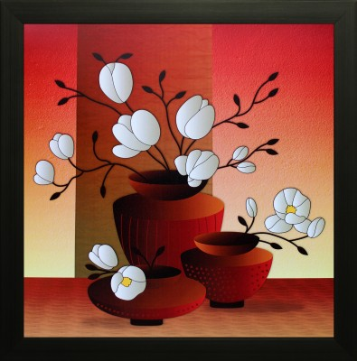 SAF Textured Print with UV Canvas 14 inch x 14 inch Painting at flipkart