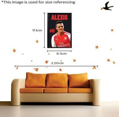 Paintcollar Alexis Sanchez L Canvas Painting(36 inch x 24 inch)  available at flipkart for Rs.8499