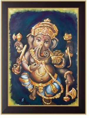 Nilgiri Touch Lord Ganesha Photo Frame Canvas Painting(13 inch x 10 inch)  available at flipkart for Rs.399