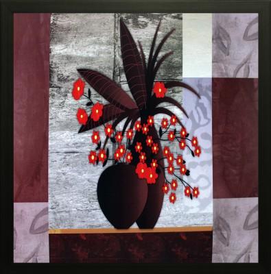 SAF Floral Oil Painting(12 inch x 12 inch) at flipkart