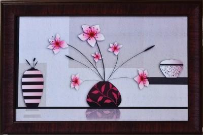 eCraftIndia Floral Theme Satin Matt Texture Canvas 14 inch x 20 inch Painting at flipkart