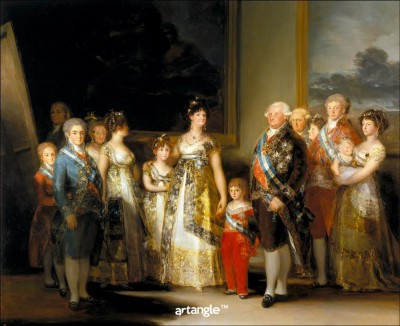 Artangle Goya y Lucientes, Francisco de - The Family of Carlos IV, Ca. 1800 Art Print Digital Reprint Painting(15 inch x 12 inch)  available at flipkart for Rs.299