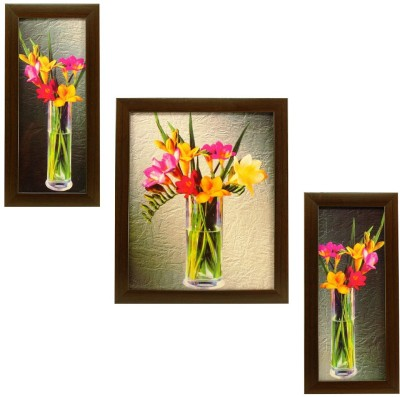 Indianara Indr Floral 63A Digital Reprint Painting(10.8 inch x 9 inch) at flipkart