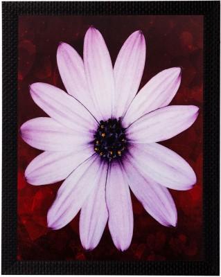 eCraftIndia Pink Sunflower Matt Textured UV Oil 14 inch x 11 inch Painting at flipkart