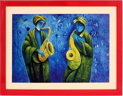 Art N Hub Musical Textured UV Effect with Acrylic Glass Ink 16 inch x 22 inch Painting at flipkart