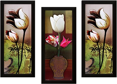 1 Art of Creations Set of 3 Textured UV Ink 16 inch x 7 inch Painting