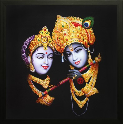 SAF Radhey Krishna Canvas Painting(12 inch x 12 inch) at flipkart