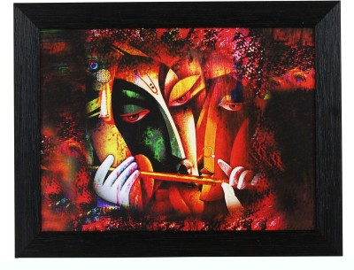 SR Crafts Lord Krishna Playing Flute In Modern Art Canvas Painting(11 inch x 14 inch)  available at flipkart for Rs.345