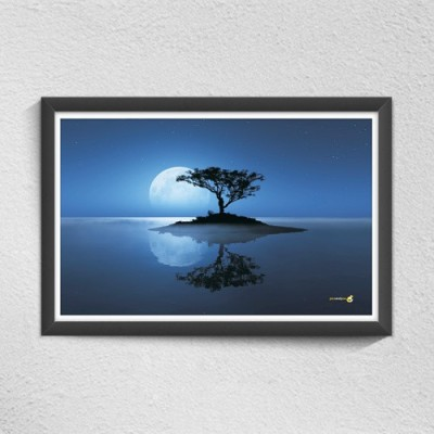 Pics and You Tree In Moon light Digital Reprint Painting(12 inch x 18 inch)  available at flipkart for Rs.149
