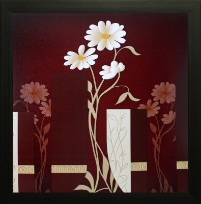 SAF Flower Canvas Painting(12 inch x 12 inch) at flipkart