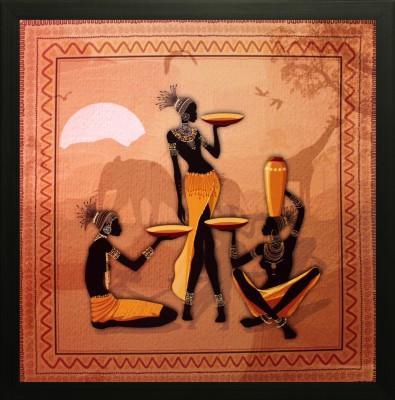 SAF Folk Oil Painting(12 inch x 12 inch) at flipkart