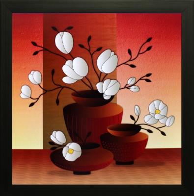 SAF Flower Oil Painting(12 inch x 12 inch) at flipkart