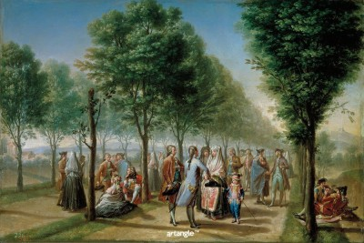 Artangle Bayeu y Subias, Francisco - El paseo de las Delicias, en Madrid, Ca. 1785 Art Print Digital Reprint Painting(18 inch x 12 inch)  available at flipkart for Rs.299