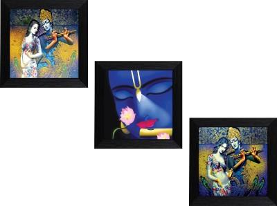MLH Handicraft Radha Kishan Set Of 3 Royal Gifting Canvas 10 inch x 10 inch Painting at flipkart