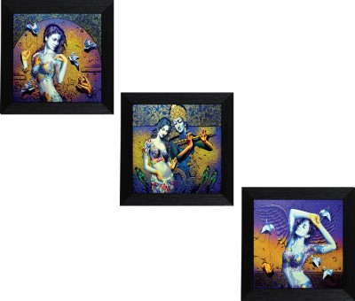 MLH Handicraft Coupal Set Of 3 Royal Gifting Canvas 10 inch x 10 inch Painting at flipkart