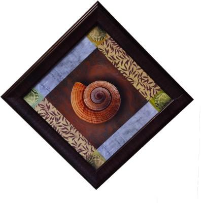 eCraftIndia Shell Design Satin Matt Texture Canvas 14 inch x 14 inch Painting at flipkart