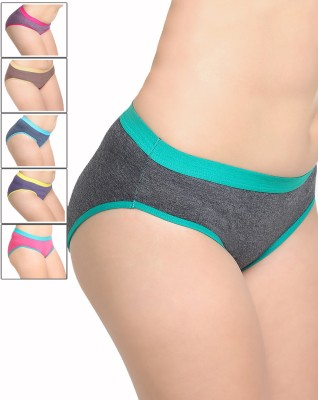 Leading Lady Women Hipster Multicolor Panty(Pack of 6)