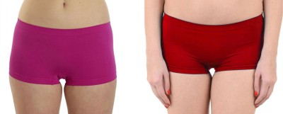 Secret World Women Boy Short Red, Pink Panty(Pack of 2) at flipkart