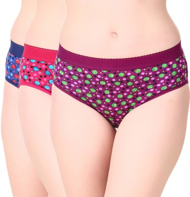 Masha Women's Hipster Multicolor Panty(Pack of 3)