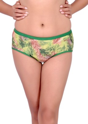Pusyy Women Hipster Green Panty(Pack of 1)