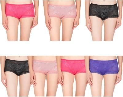 By The Way Women's Bikini Multicolor Panty(Pack of 7) at flipkart
