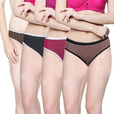 Addyvero Women's Brief Multicolor Panty(Pack of 4)