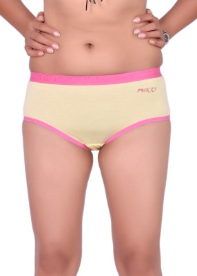 Pusyy Women Hipster Yellow Panty(Pack of 1)