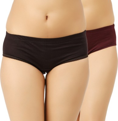 Vaishma Women Hipster Maroon, Brown Panty(Pack of 2) at flipkart