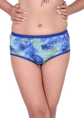 Pusyy Women Hipster Blue Panty(Pack of 1)