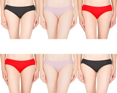 By The Way Women's Bikini Multicolor Panty(Pack of 6)