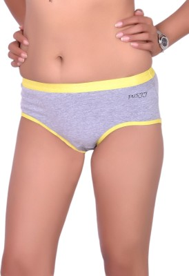 Pusyy Women Hipster Grey Panty(Pack of 1)