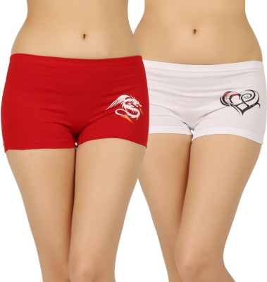 Vaishma Women Boy Short Multicolor Panty(Pack of 2) at flipkart