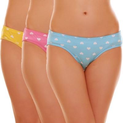Sovam Women's Bikini Multicolor Panty(Pack of 3)