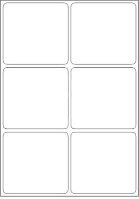 Novajet 6 A4 Size Sticker Paper Self adhesive Paper Label White