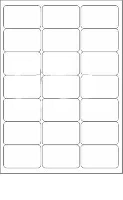Novajet 21 A4 Size Sticker Paper Self adhesive Paper Label White