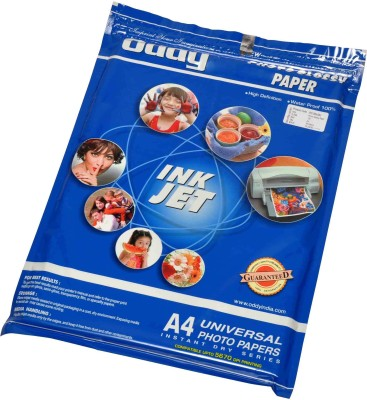 Oddy Universal Coated Glossy For All Inkjet Printers 260 GSM Unruled A3 Photo Paper(Set of 1, White)