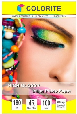 VMS Imperial High Glossy 4R 210 GSM RC Photo Paper 400 Sheet Unruled 4R Inkjet Paper(Set of 1, White)